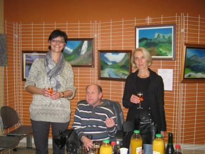 Daniel GOUARD et ses oeuvres Expos a la MDPH 51